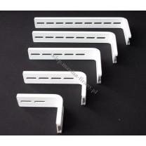 Wspornik ścienny do profili aluminiowych biały