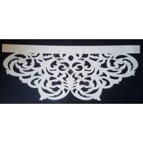 Ażur do firan, wzór AZ01 Gobelin, szer. 92 cm, biały, czterowarstwowy - odrzut nr 56