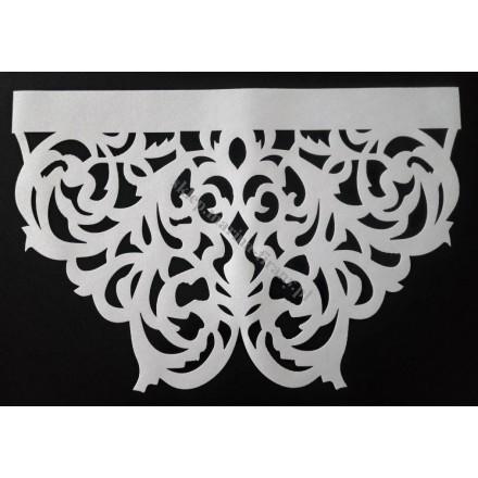 Ażur do firan, wzór AZ01 Gobelin, szer. 41 cm, biały, dwuwarstwowy - odrzut nr 57