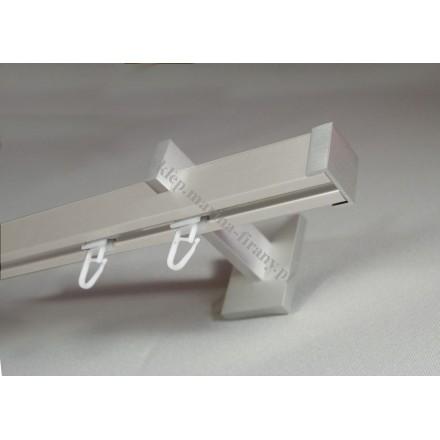Karnisz pojedynczy Modern 25 srebrny inox z zaślepkami MDH2506