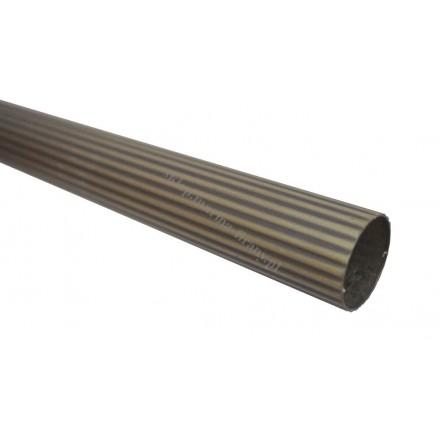 Drążek - rura ryflowana karnisza fi 20 mm dł. 150 cm - jasne antico (mosiądz)