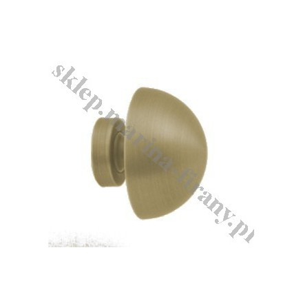 Końcówka do rury 20 mm Półkula średnia - jasne antico (mosiądz) - 1 szt