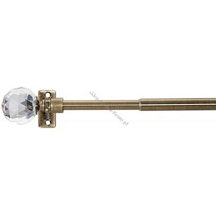 Karnisz Mini Gral 12 mm 40 cm antyk - Cylinder