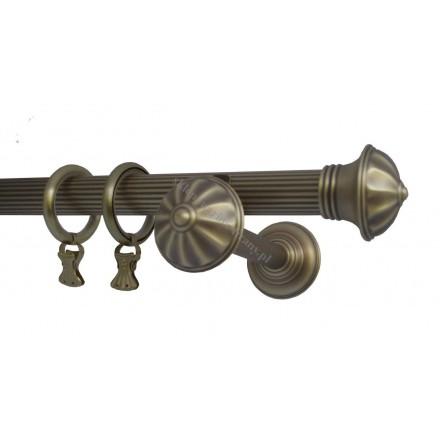 Karnisz pojedynczy mosiężny Classic fi 30 mm ryflowany - (TH0060)