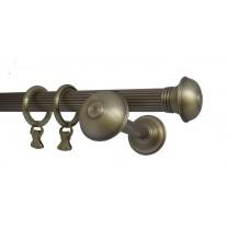 Karnisz pojedynczy mosiężny Classic fi 30 mm ryflowany gładki - (TH0061)