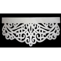Ażur do firan, wzór Wstęga, szer. 50 cm, biały, czterowarstwowy - odrzut nr 62