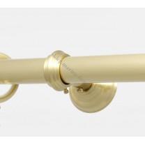 Wspornik pojedynczy przelotowy Classic 20 mm - satyna (mosiądz)