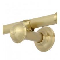 Wspornik pojedynczy gładki Classic 20 mm - satyna (mosiądz)