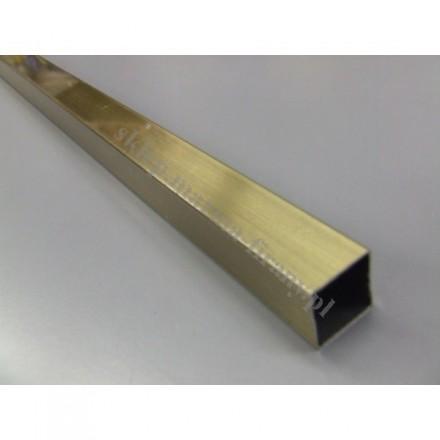 Drążek Kwadro złoto antyczne - 240cm