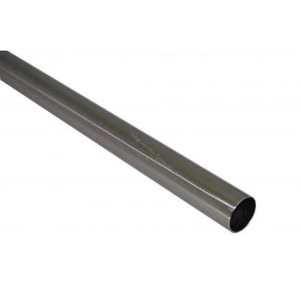 Drążek gładki 160cm Gral fi 25 efekt stali