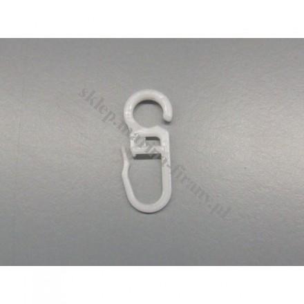 Agrafka na kółko do karniszy fi 28 mm biały - 30 szt