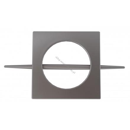 Klamra dekoracyjna KWADRO chrom-mat