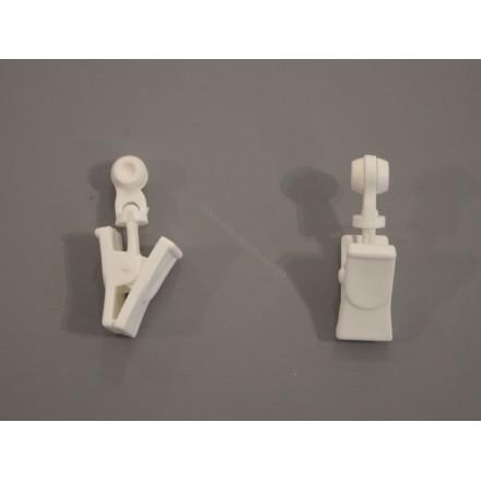 Rolka z klamerką obrotowa do szyny sufitowej - (1 szt)