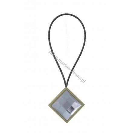 Klips magnetyczny krótki KWADRO CRYSTAL mosiądz/mat