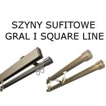 Elementy szyn sufitowych Gral, Square Line oraz Techno 20