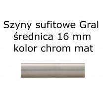 Elementy do szyn sufitowych Gral 16 mm kolor chrom mat