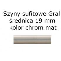 Elementy do szyn sufitowych Gral 19 mm kolor chrom mat