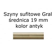 Elementy do szyn sufitowych Gral 19 mm kolor antyk
