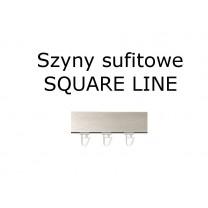 Elementy do szyn sufitowych SQUARE LINE w kolorze stal przecierana