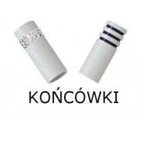 Końcówki karniszy fi 19 mm w kolorze biały połysk