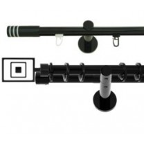 Komplety karniszy Gral czarny połysk fi 19 mm