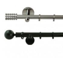 Komplety karniszy 30 mm - stal nierdzewna - aluminium