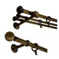 Komplety karniszy 30 mm / 20 mm - mosiądz