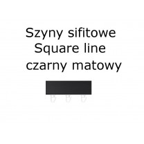 Elementy do szyn sufitowych SQUARE LINE w kolorze czarny matowy