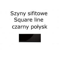 Elementy do szyn sufitowych SQUARE LINE w kolorze czarny połysk