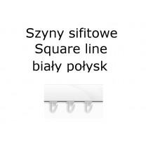 Elementy do szyn sufitowych SQUARE LINE w kolorze biały połysk