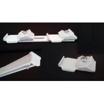 Szyny sufitowe aluminiowe typu MS (KS) - elementy