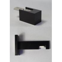 Karnisze Modern 25 w kolorze czarnym matowym - elementy