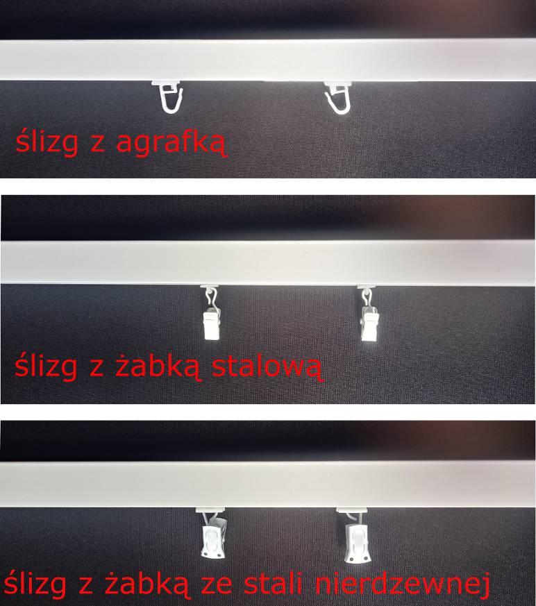 rodzaje ślizgów dla karniszy Modern 25